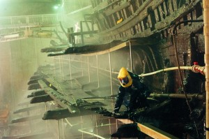 Shipspray on the Mary Rose