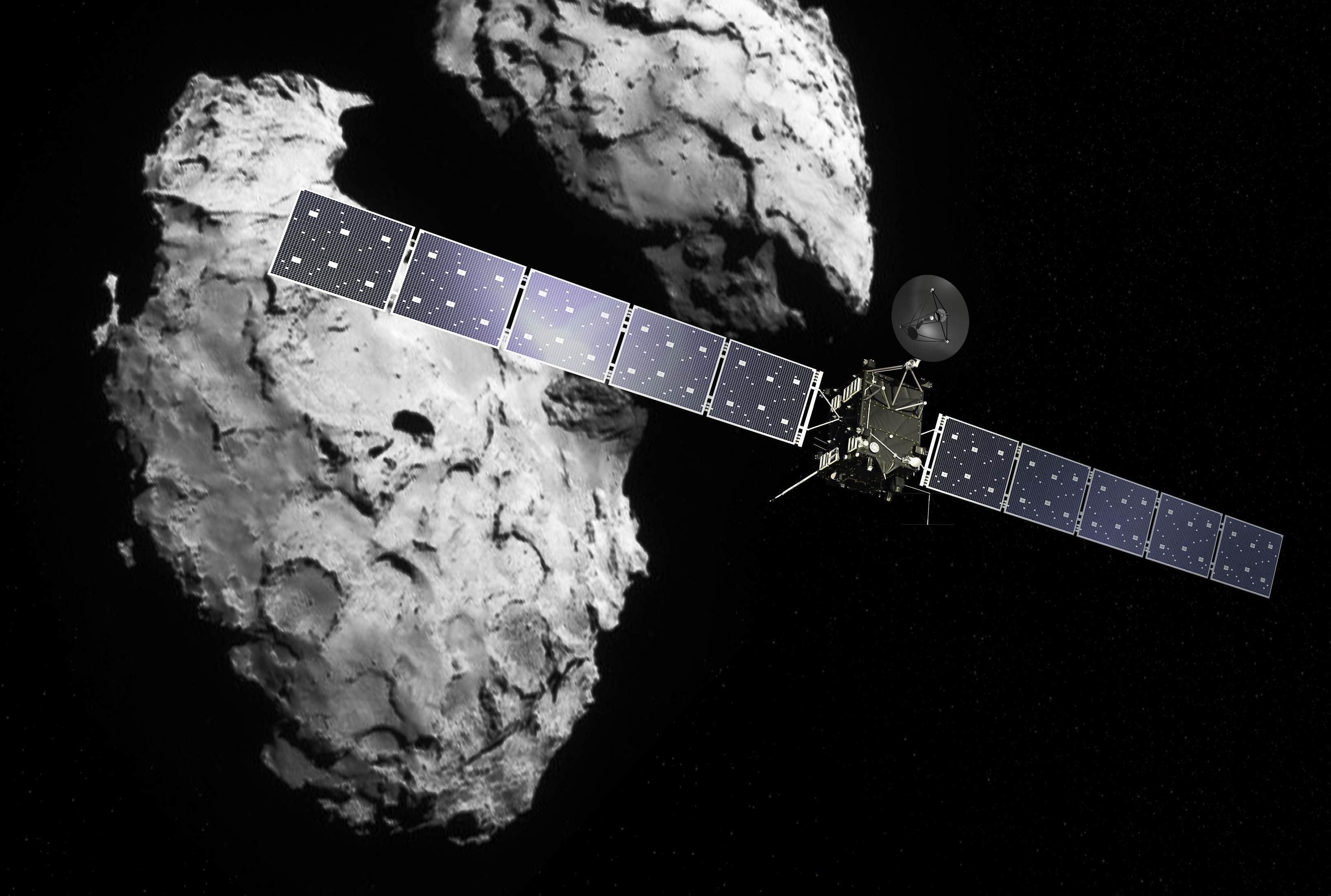 Rosetta and its target comet