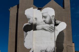LARGE MURAL BY JOE CASLIN [SAME-SEX MARRIAGE]