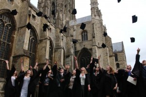 Kent graduates celebrating