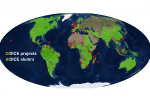 DICE alumni project map