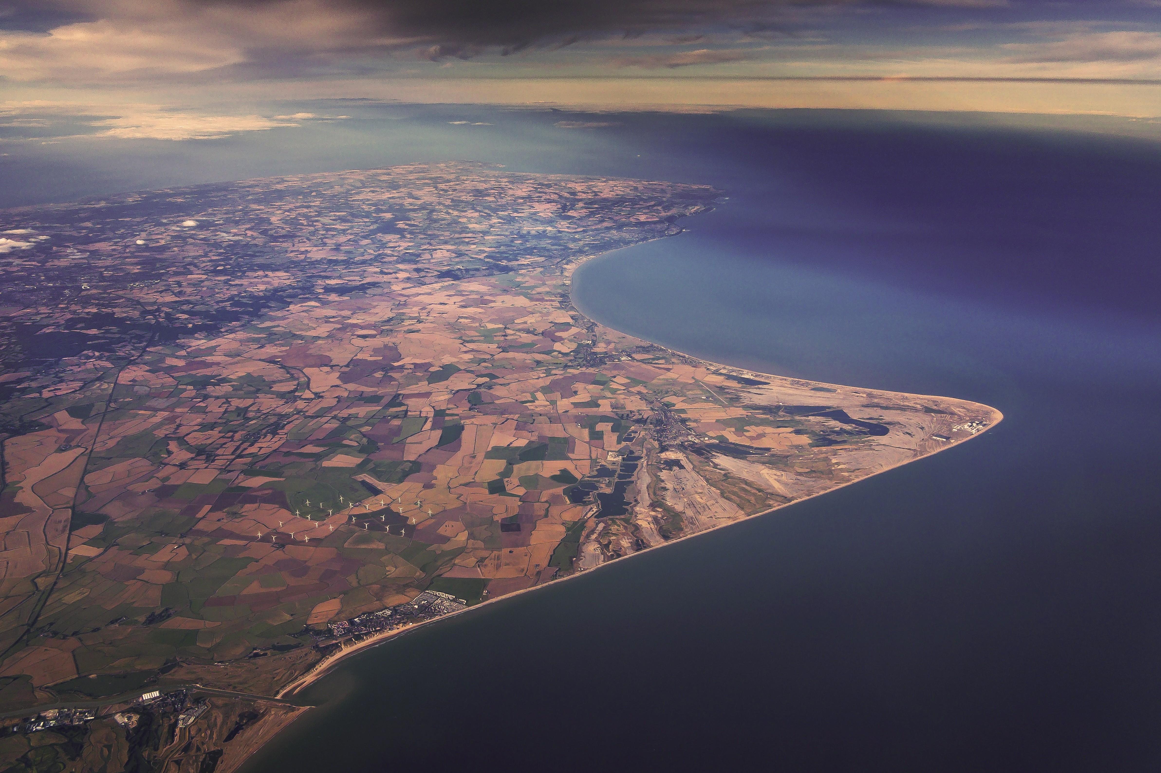 Aerial view of Kent, UK