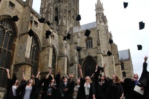 Graduation at Canterbury Cathedral