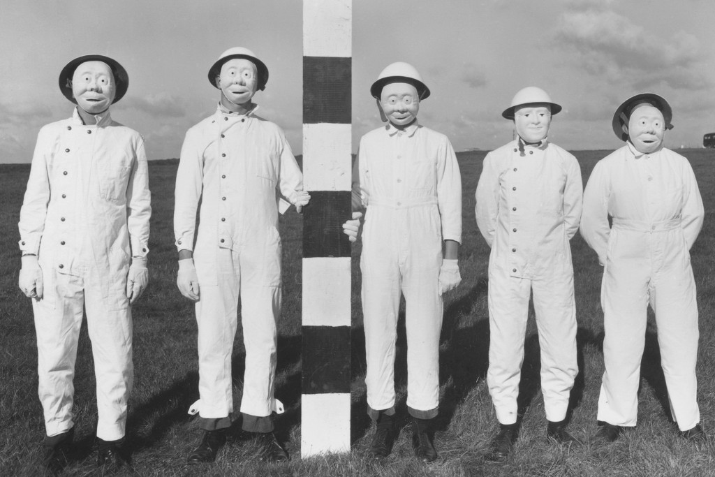 The purpose of the masks was to allow for the collection of simulants during aircraft spraying trials.