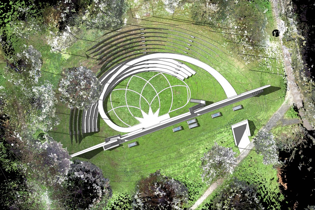Crater site could become open air theatre university of kent for Open balcony in a theatre