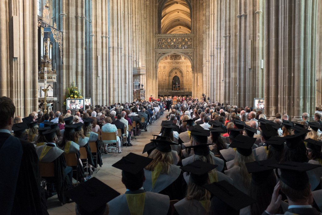 Canterbury cathedral graduation ceremony