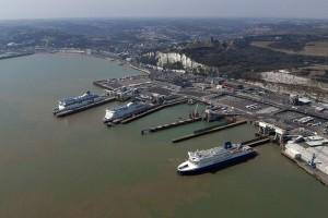 Aerial Dover Ferry Port by John Fielding