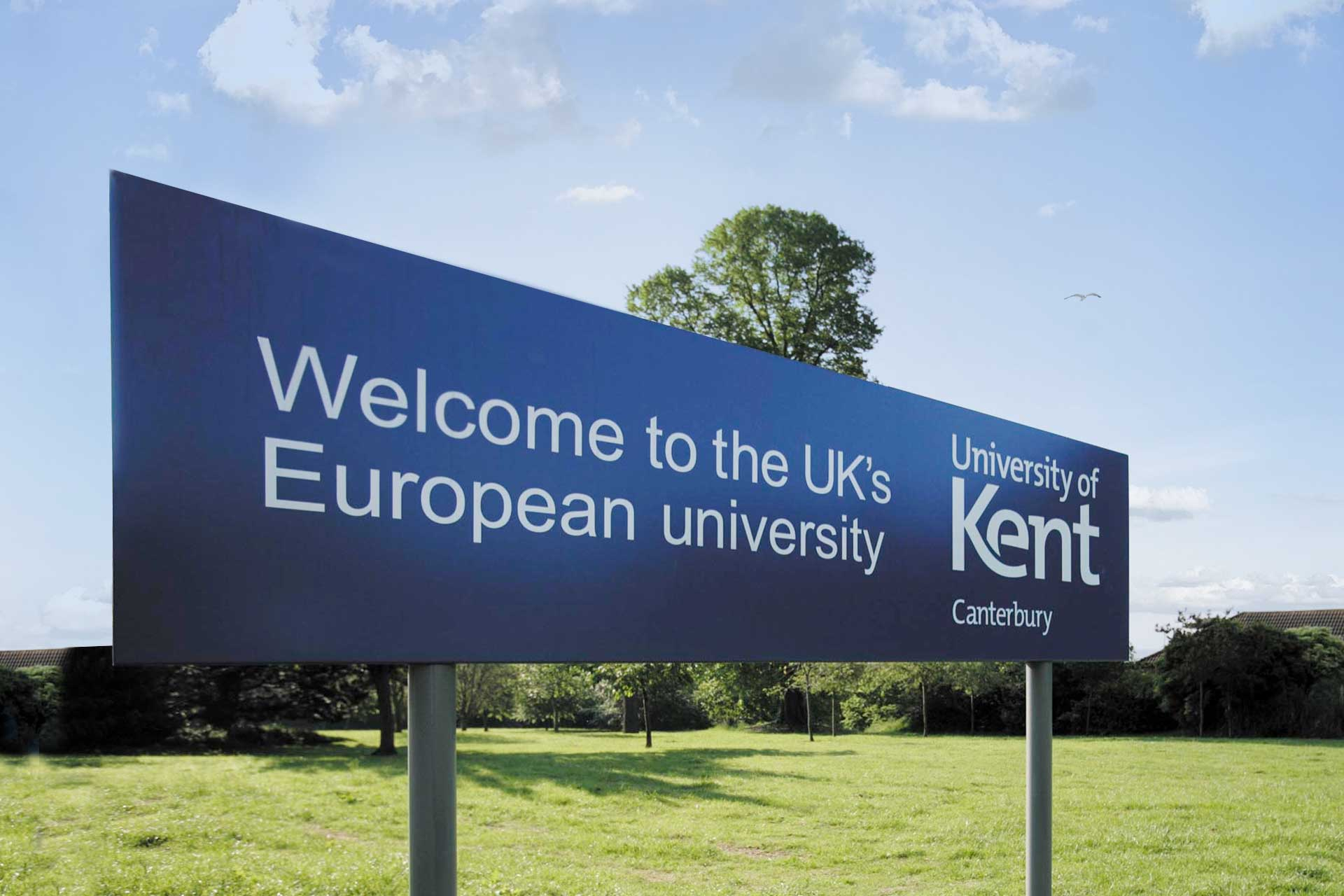 University of Kent sign