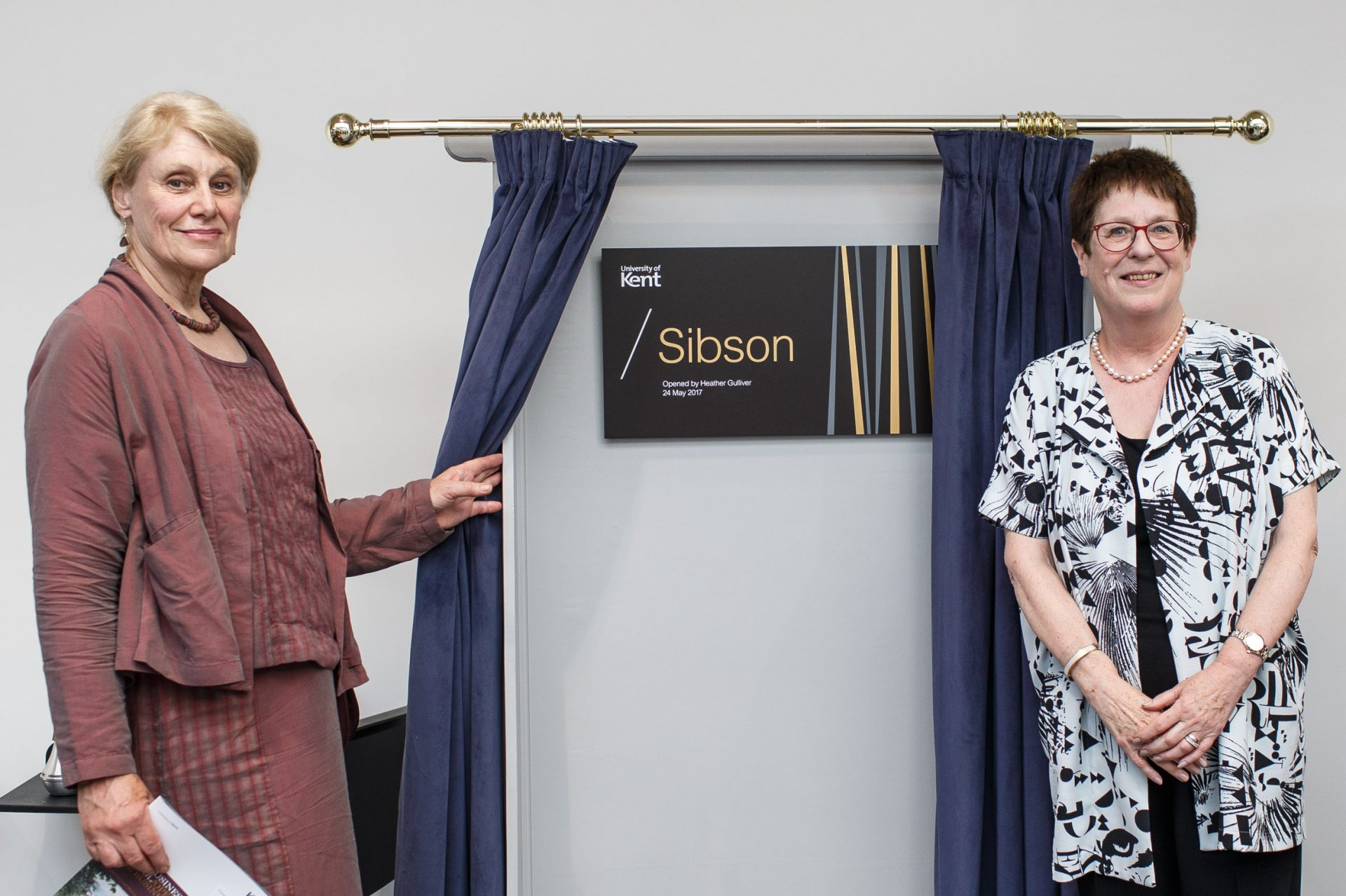 Helen Gulliver and Vice-Chancellor Professor Dame Julia Goodfellow at Sibson opening