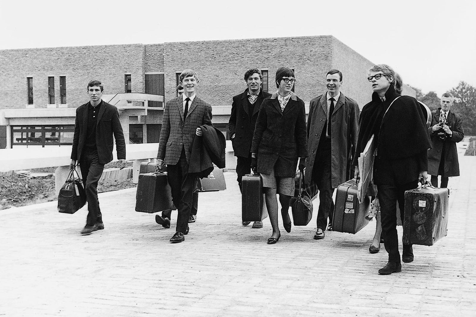First cohort of students arriving at the University of Kent in 1965