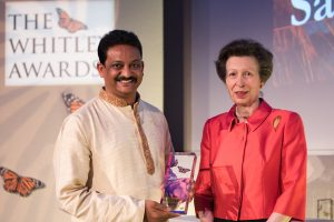 Sanjay Gubbi receives his Whitley Award