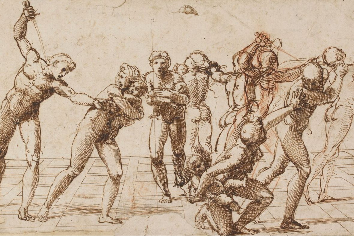 Drawing by the Italian Renaissance artist Raphael