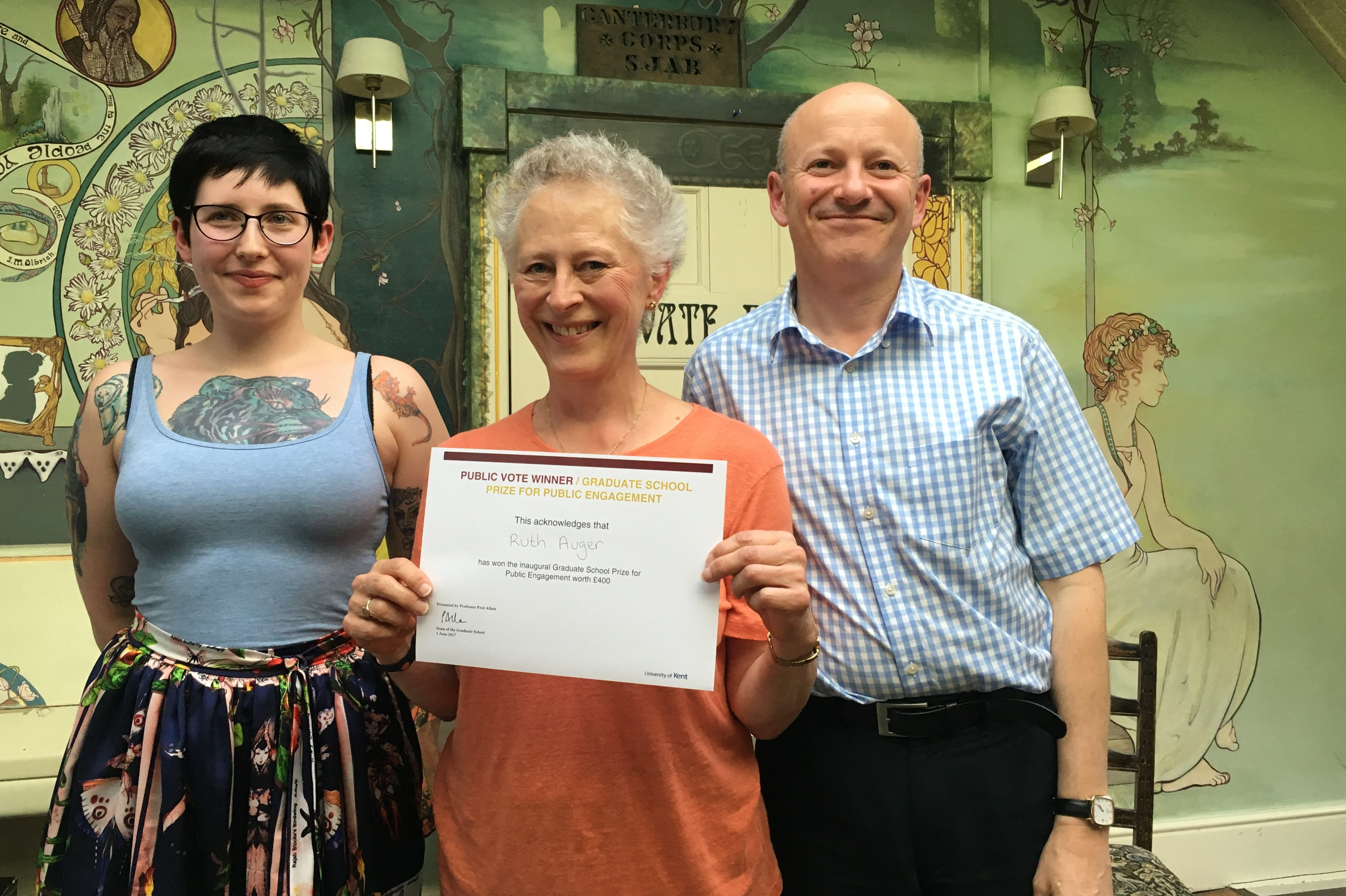 Ruth Auger wins the inaugural Graduate School Public Engagement competition