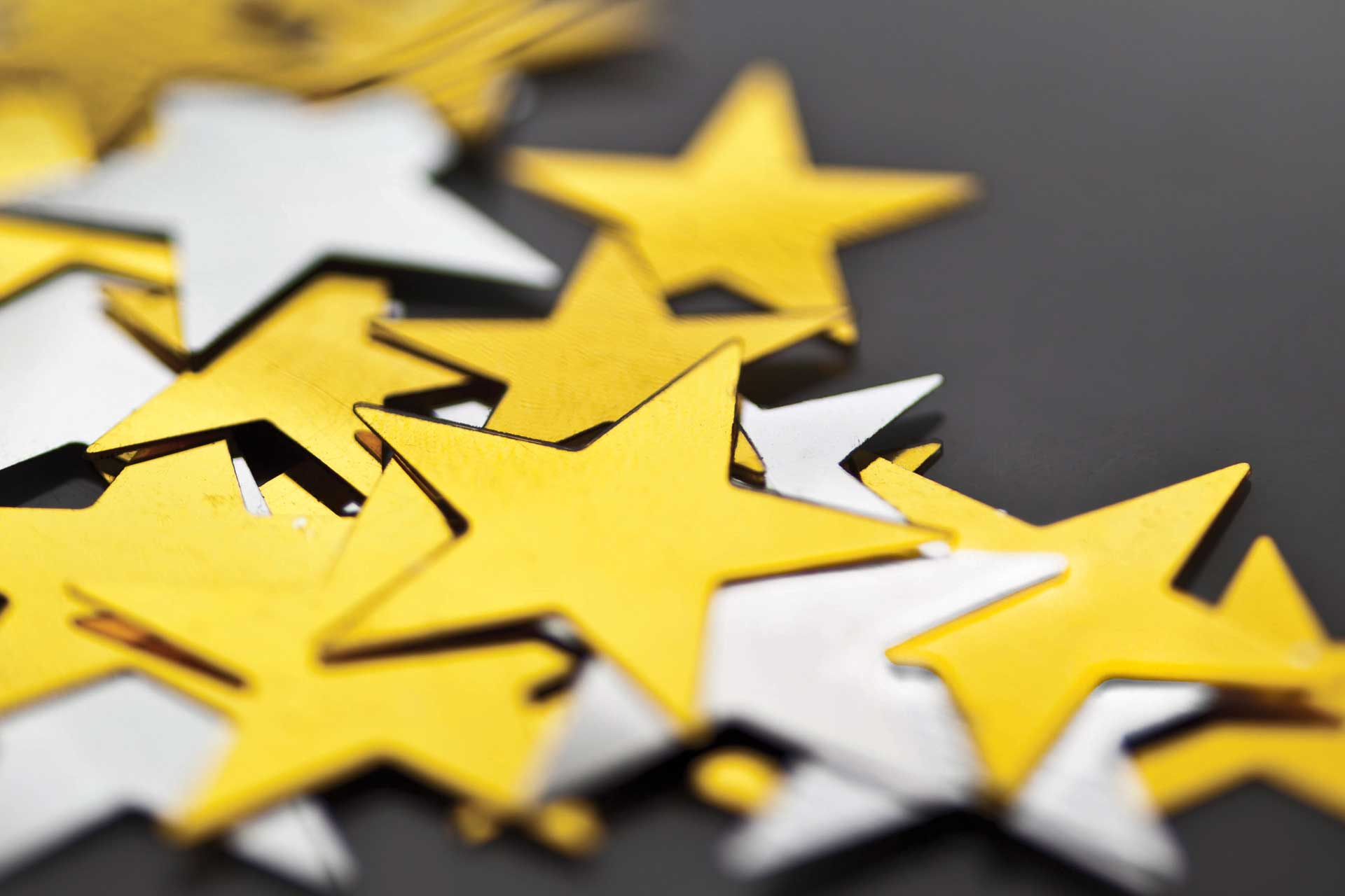 A collection of gold stars