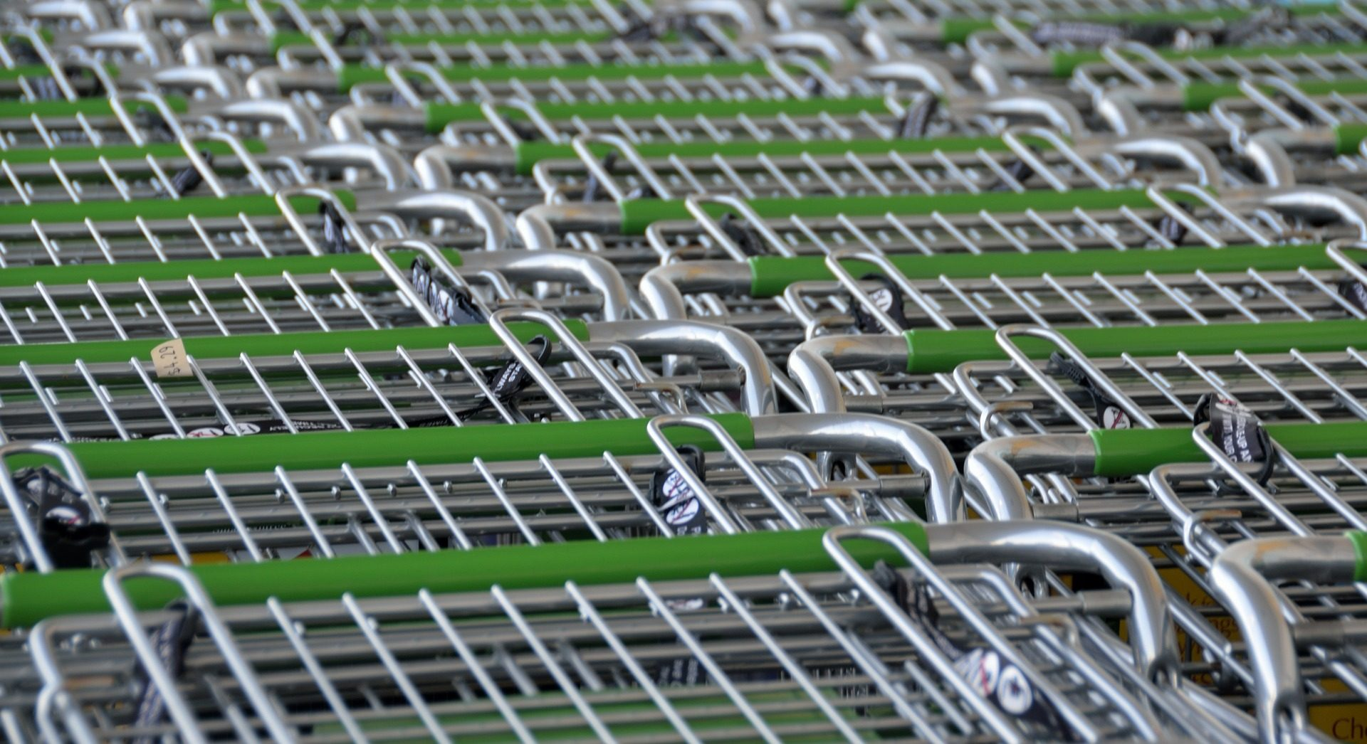 Shopping supermarket trolleys