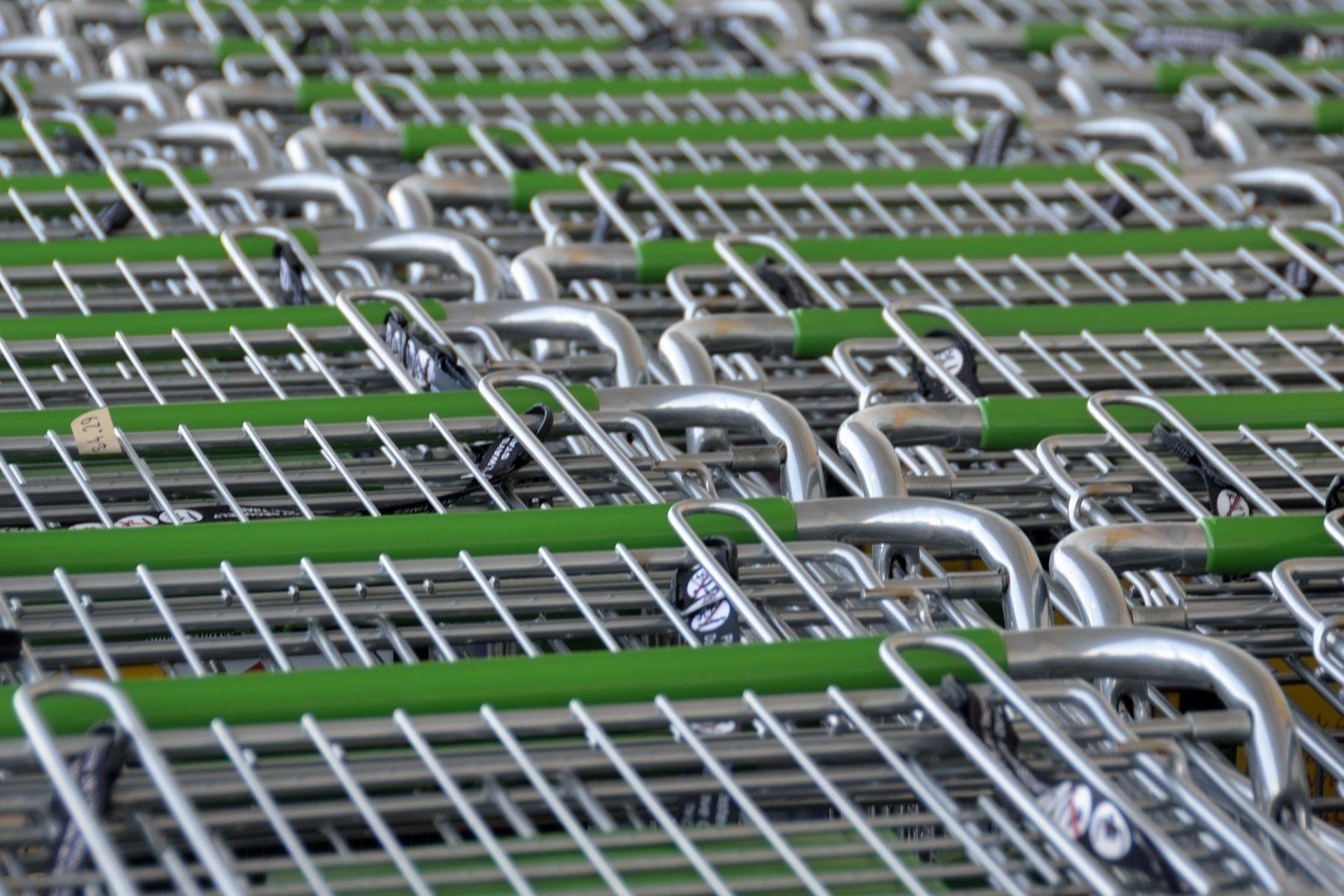 Shopping supermarket trolleys