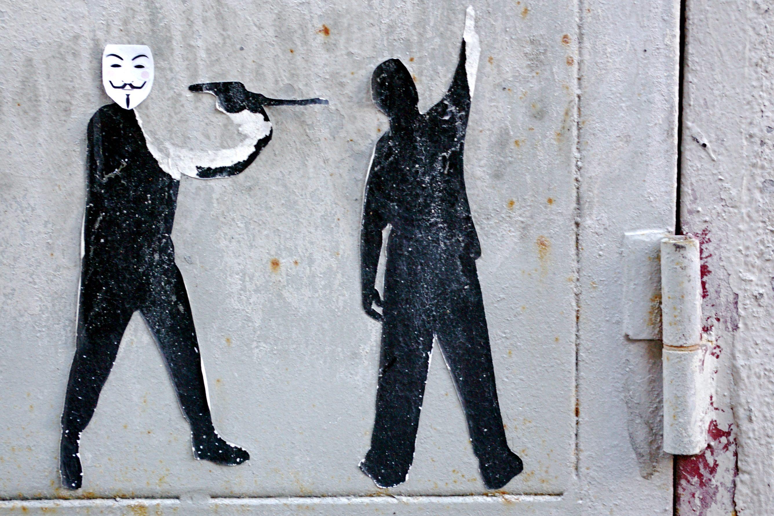 Artwork based on Anonymous mask