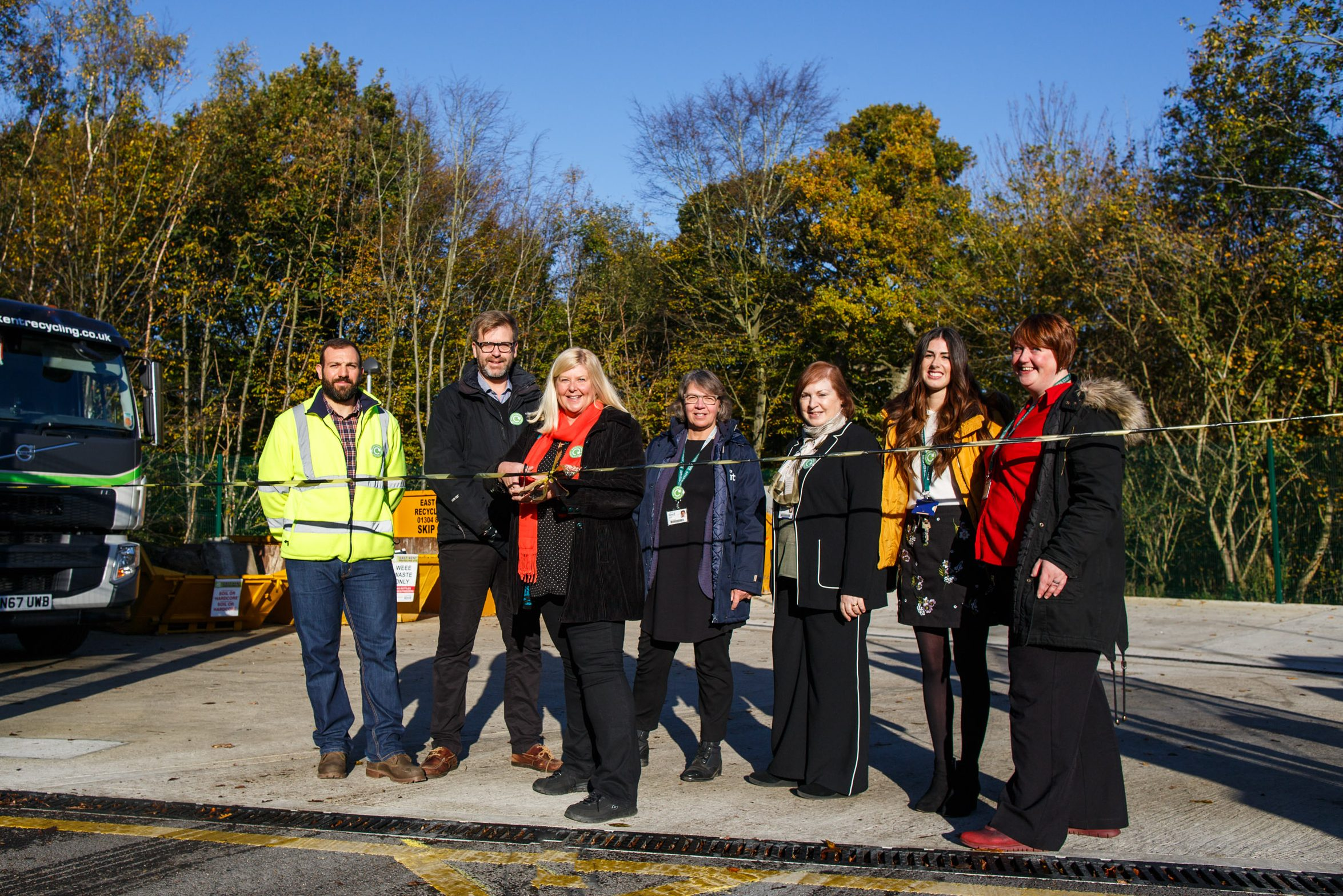 Grand opening of Recycling Hub