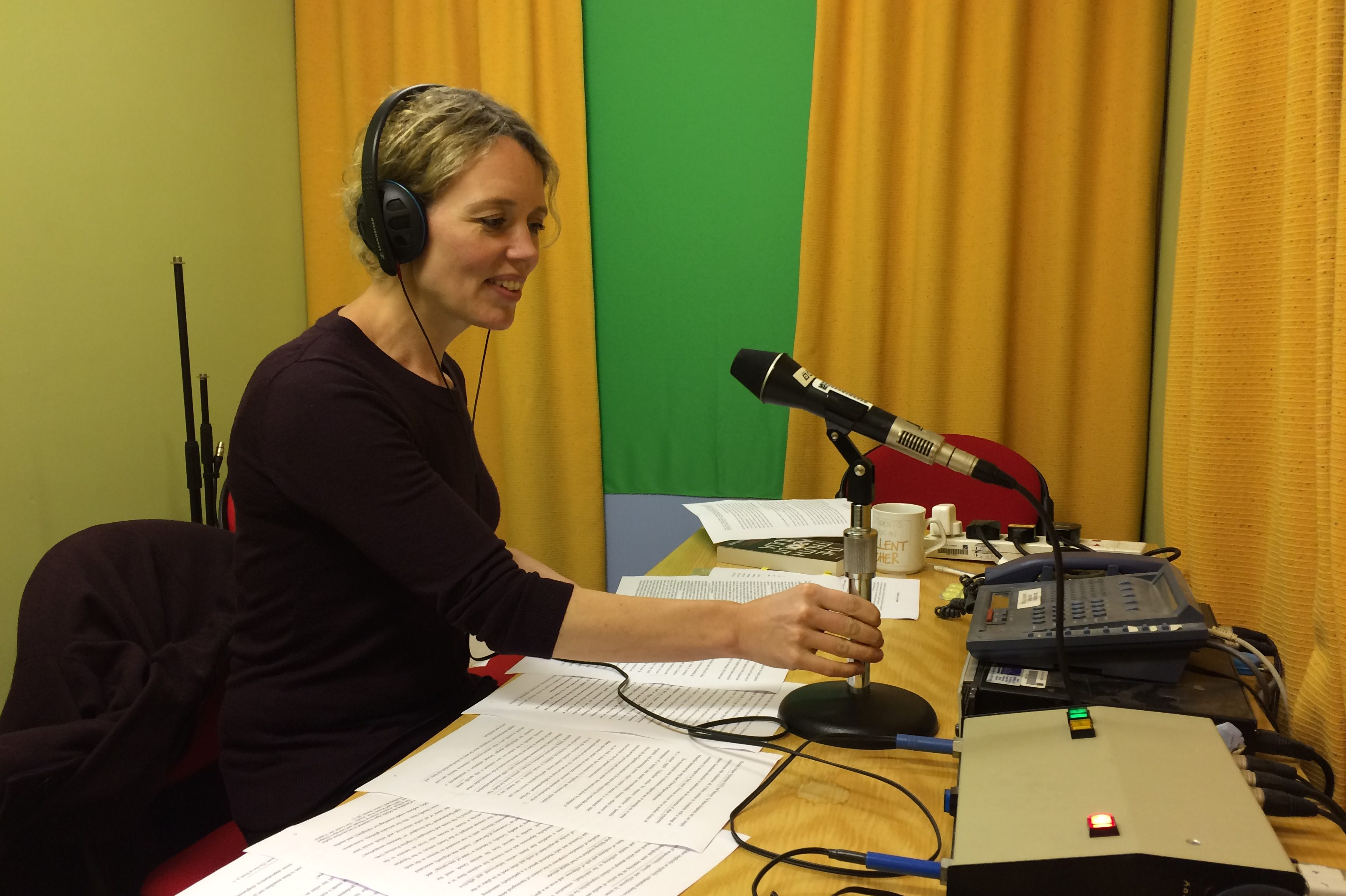 Anna Schaffner interviewed on radio