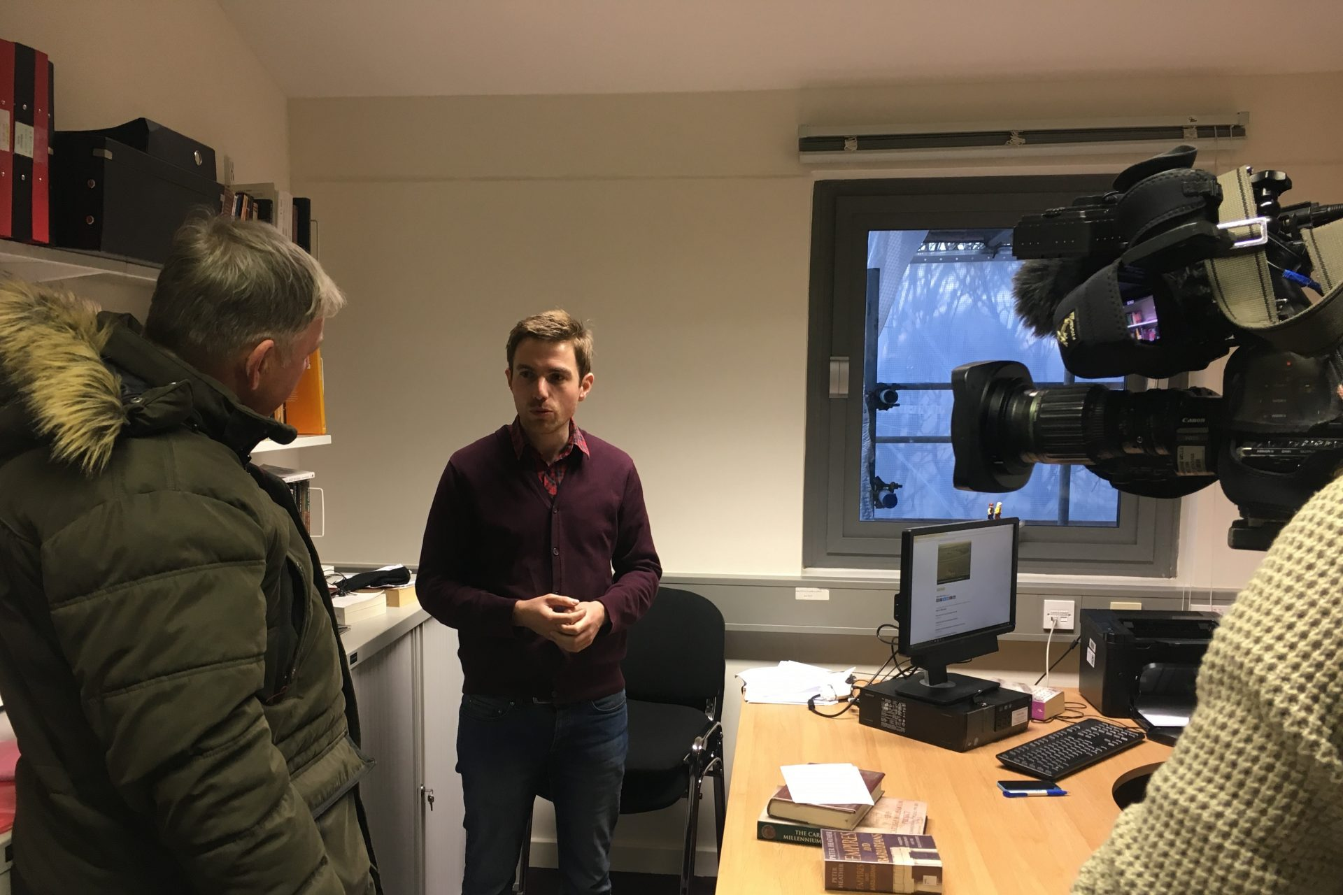 Dr David Walsh interviewed on campus