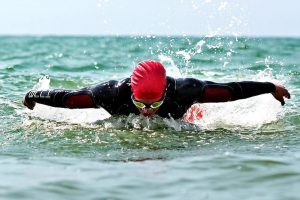 Nathan Abbott has raised thousands for Smile Train through various swimming events
