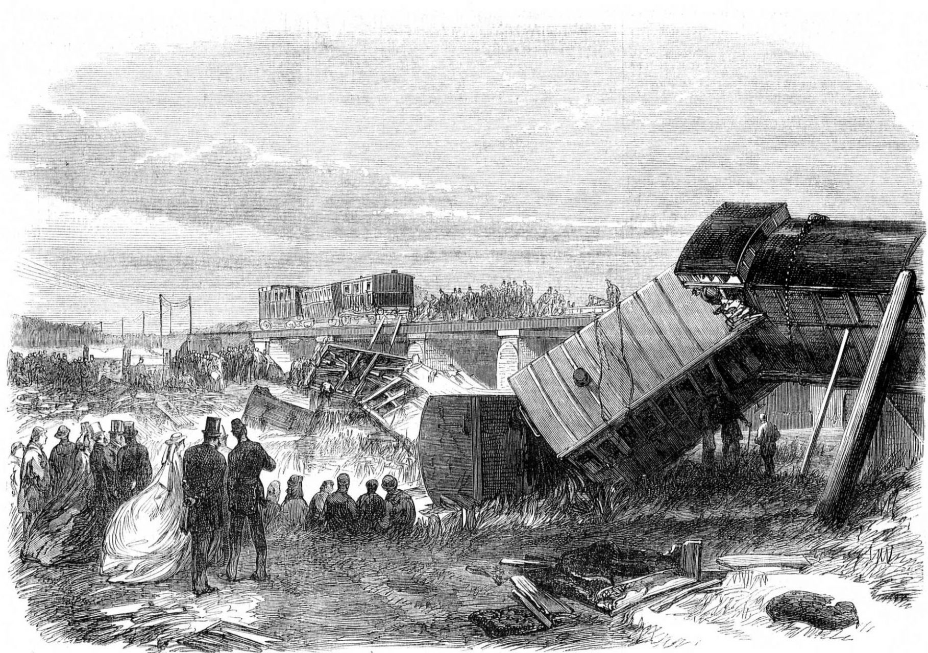 The Staplehurst Railway crash, witnessed by Charles Dickens
