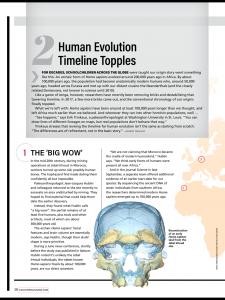 Discover magazine fossil focus