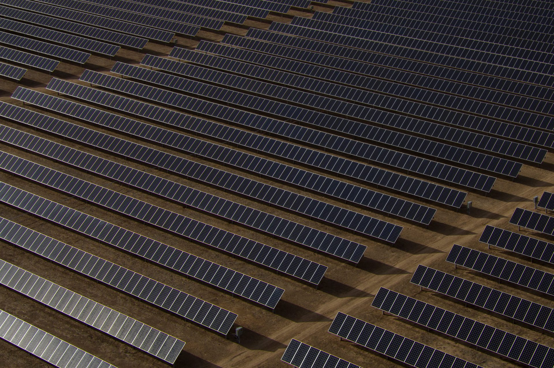 Thousands of solar panels