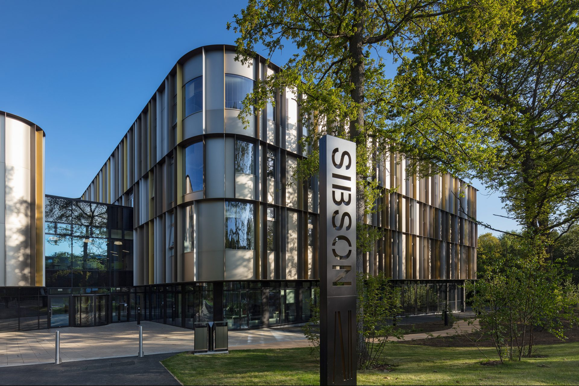 Exterior of Sibson Building