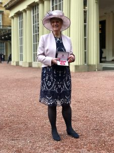 Professor Sally Kendall with MBE