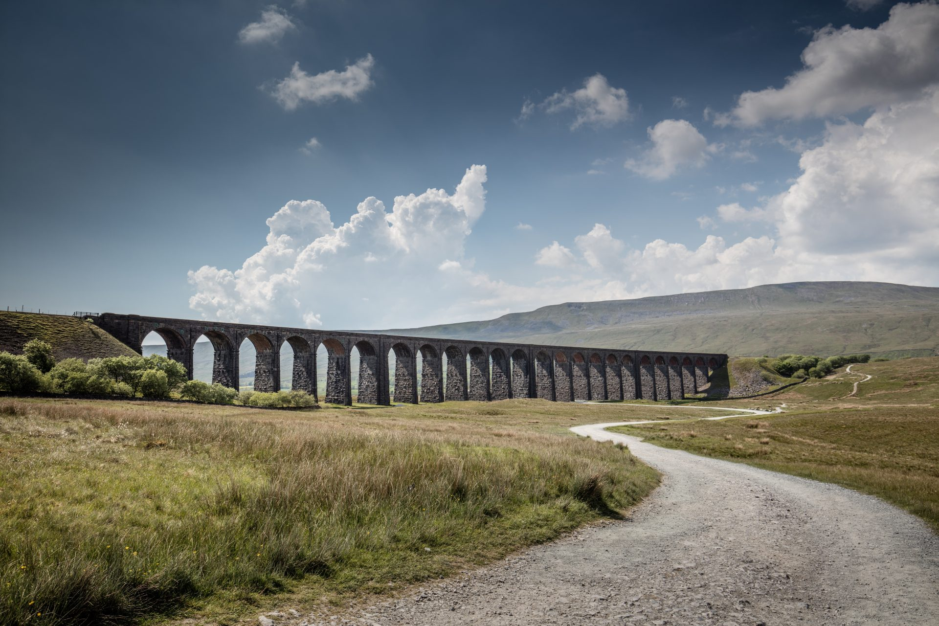 Road and viaduct