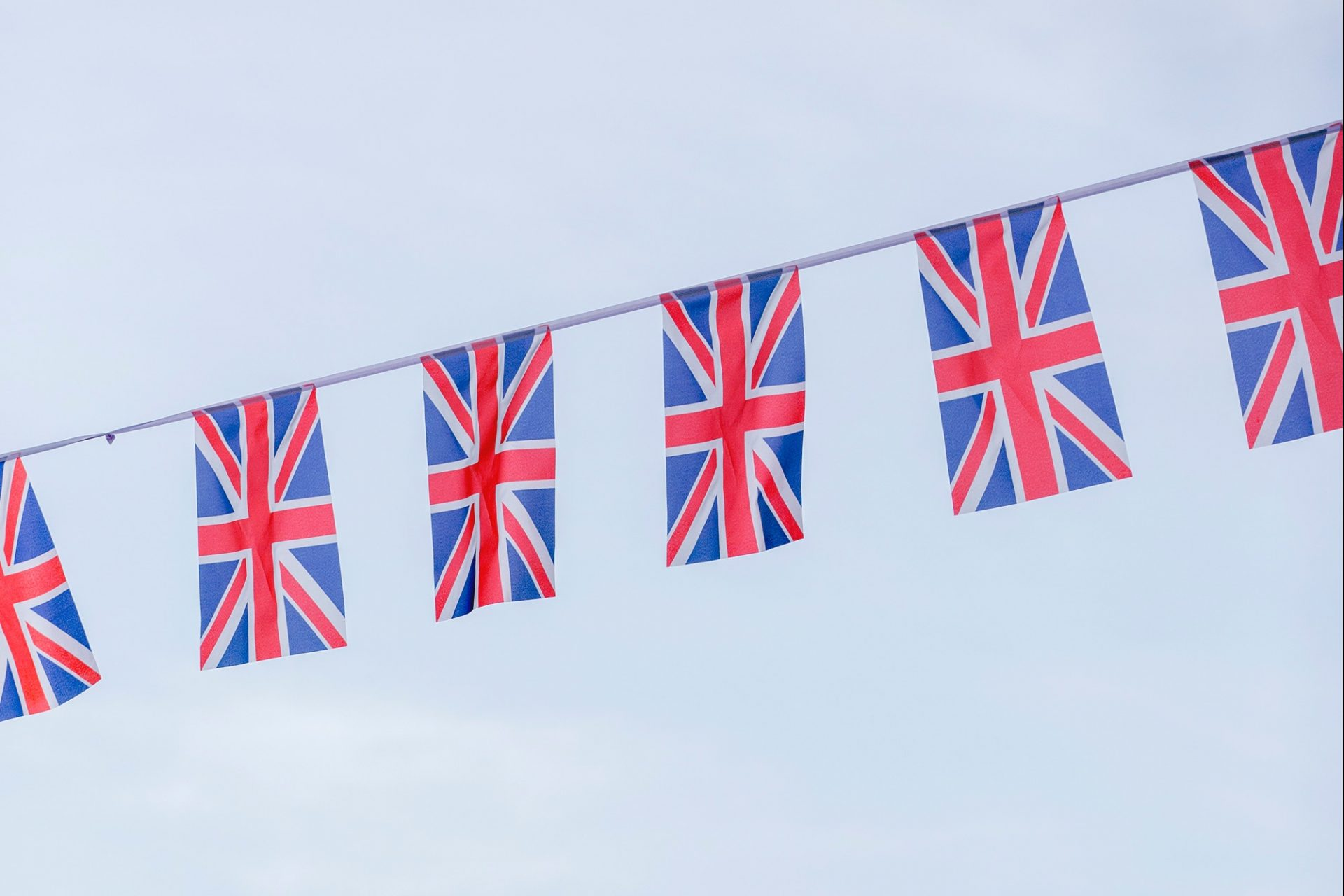 A line of Union Jack flags