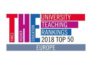 THE University teaching rankings 2018