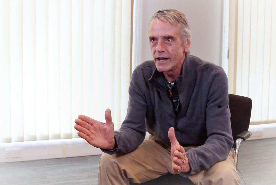 Jeremy Irons taking part in the first 28x28 video