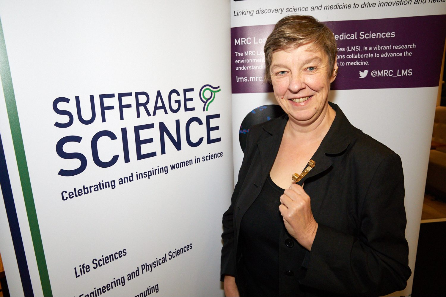 Professor Sally Fincher at Suffrage Science awards