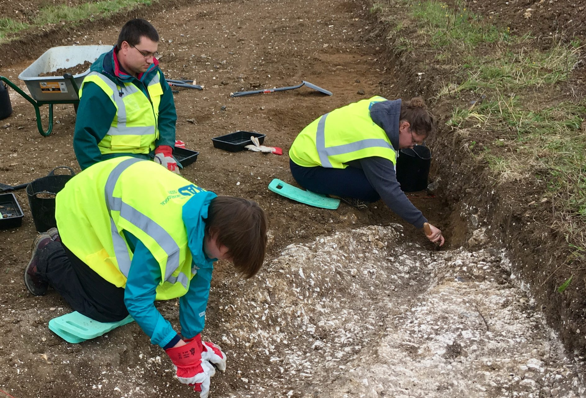 Students on a dig