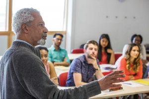 Abdulrazak Gurnah teaching