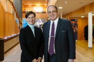 Vice-Chancellor and President Professor Karen Cox with Michael Ellis MP