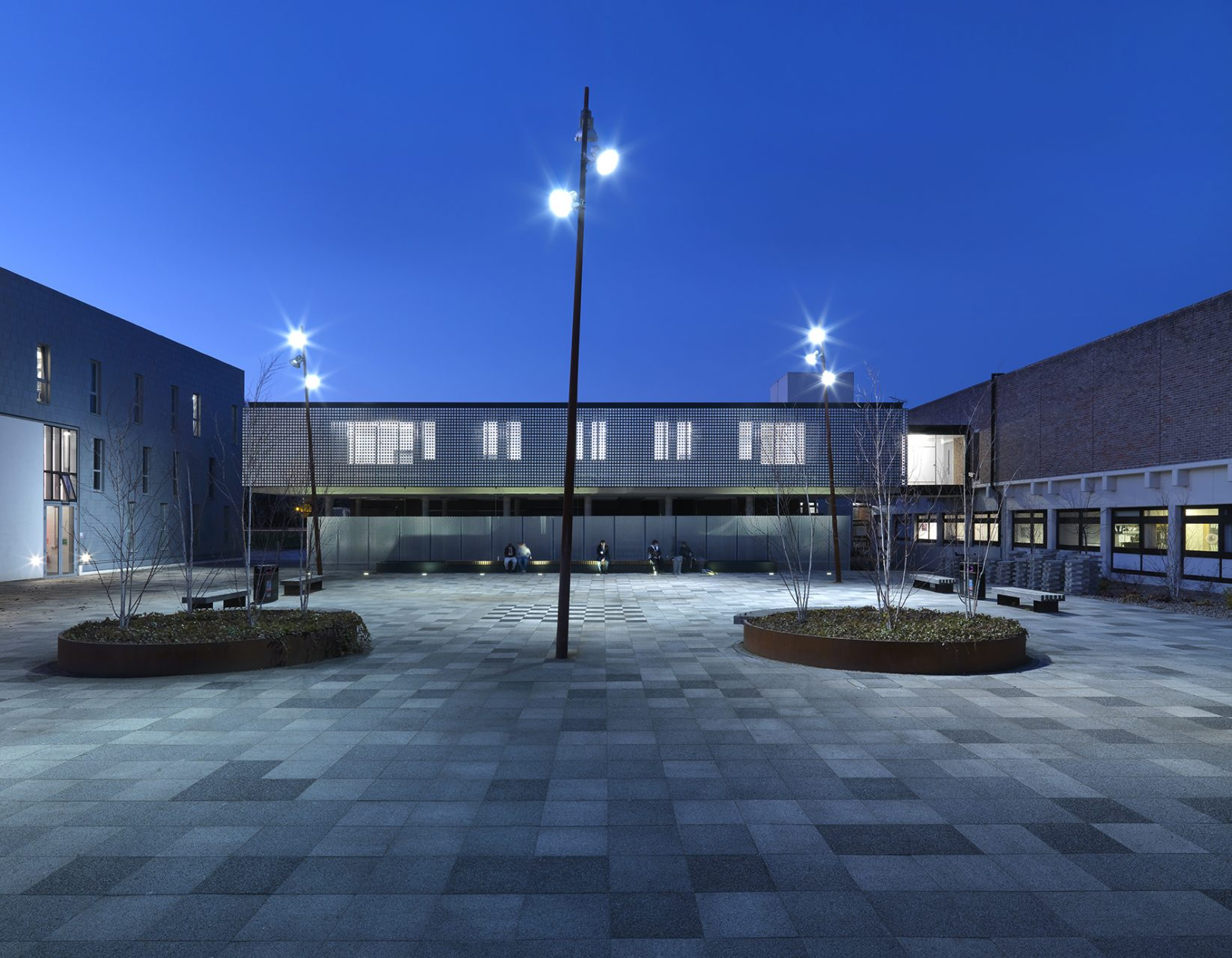 Exterior shot of School of Architecture and Planning at Kent