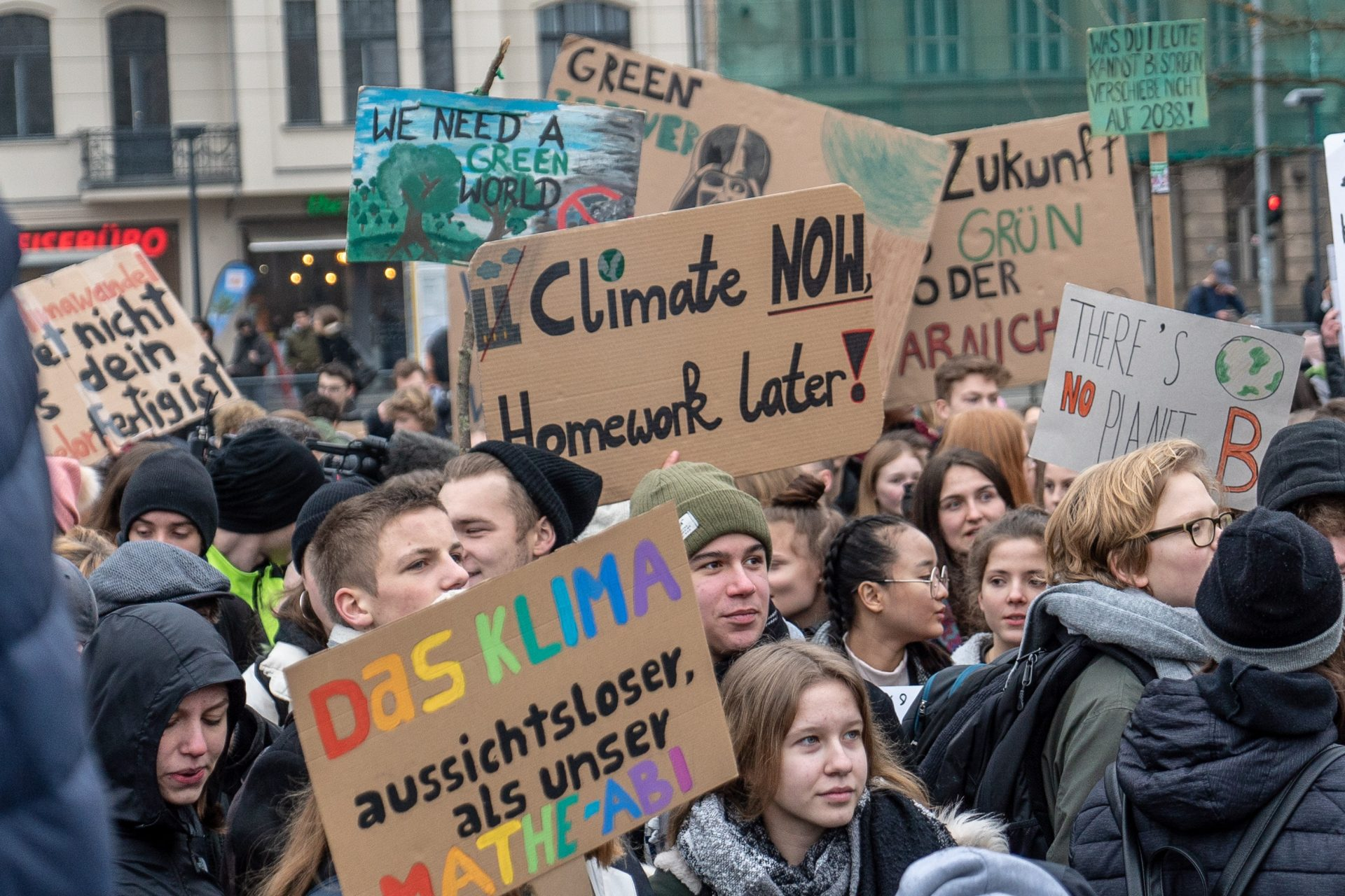 Children protest against climate change