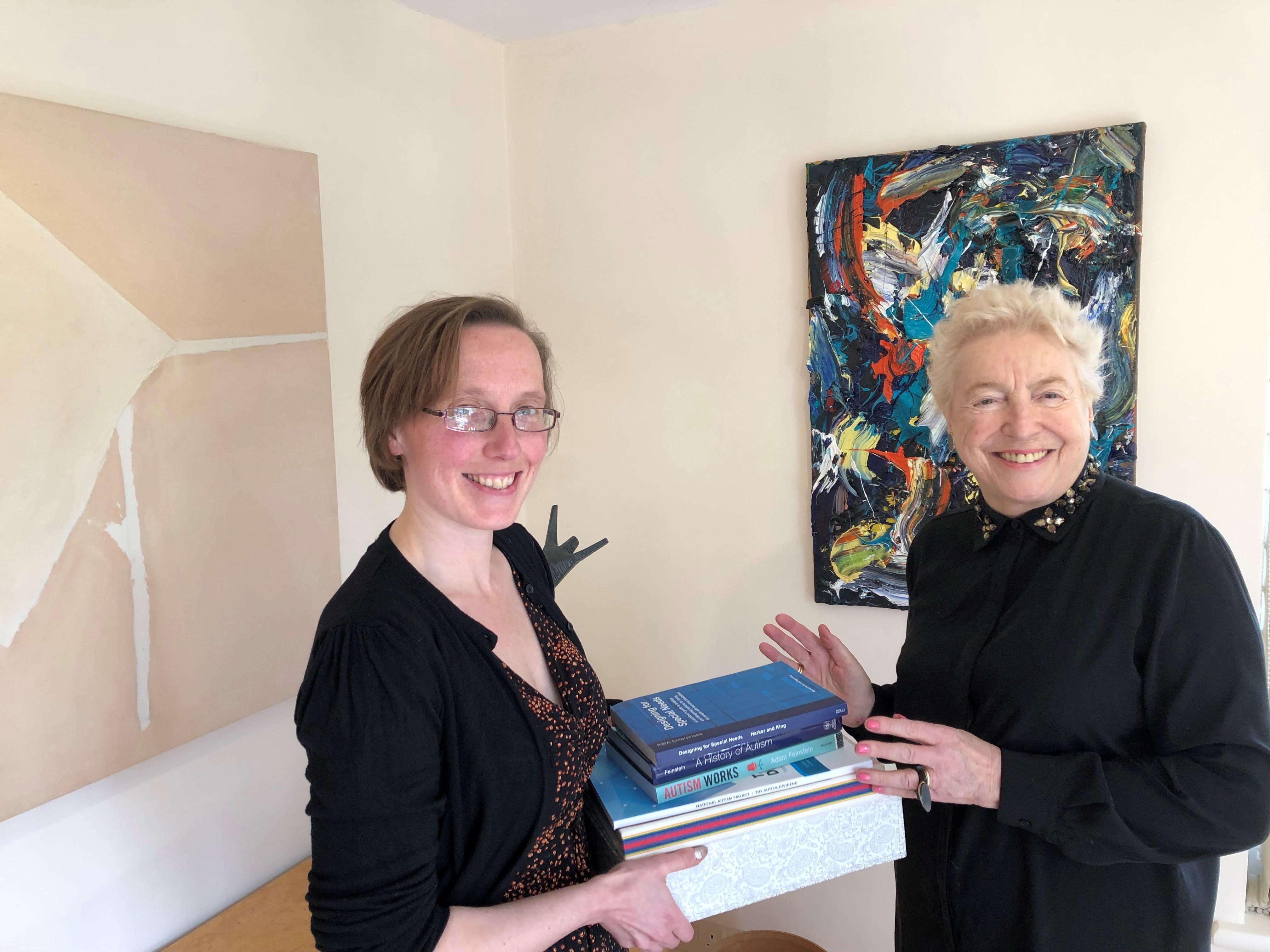 Beth Astridge with Dame Stephanie Shirley