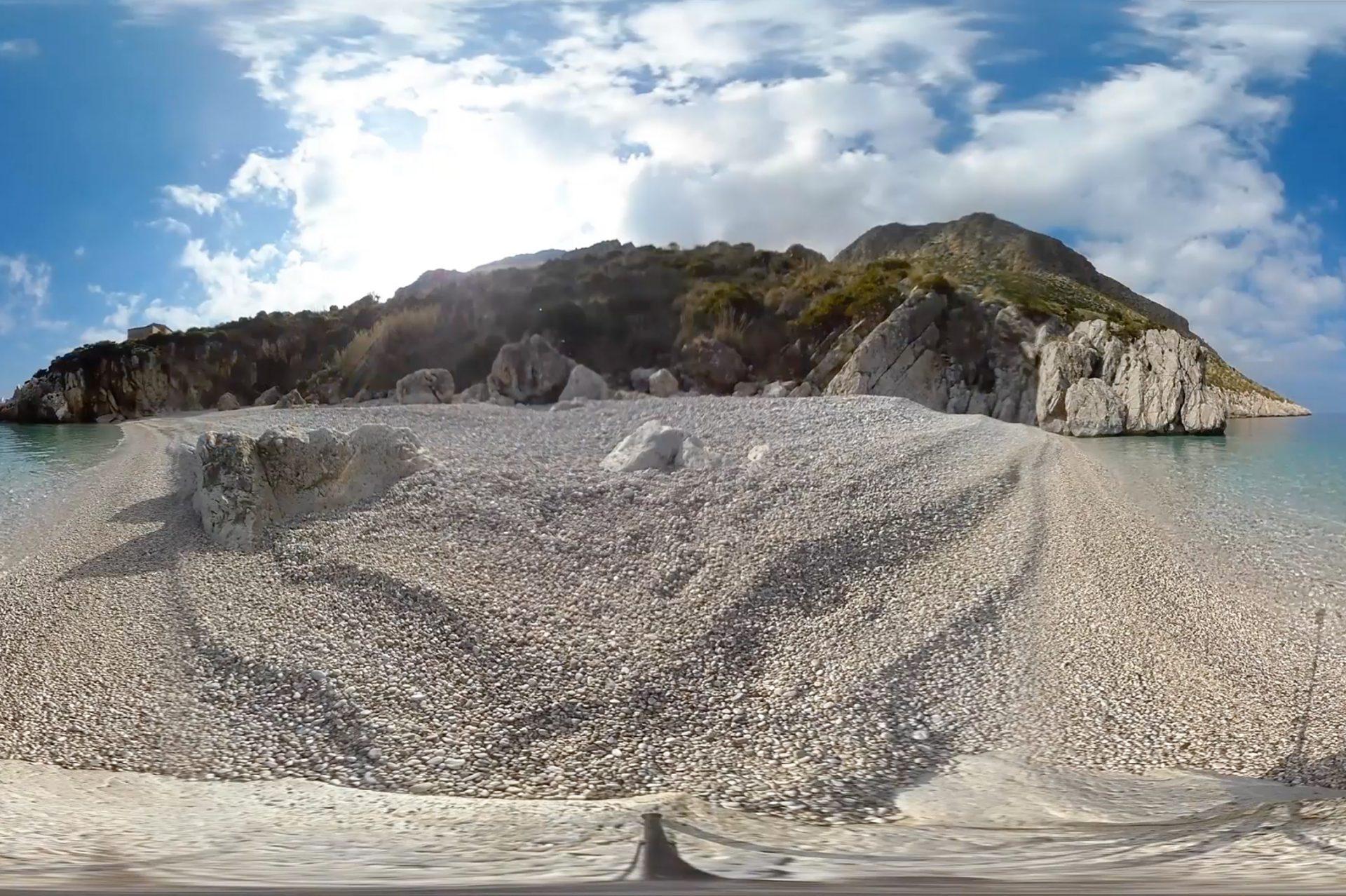Beach scene from VR trials