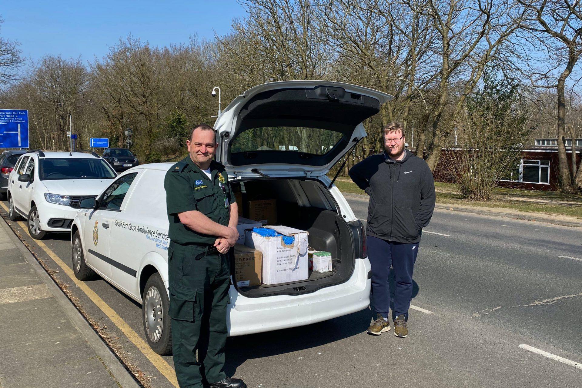 Gavin Thompson, South East Coast Ambulance Service NHS Foundation Trust (left), Dr Chris Shepherd (right)