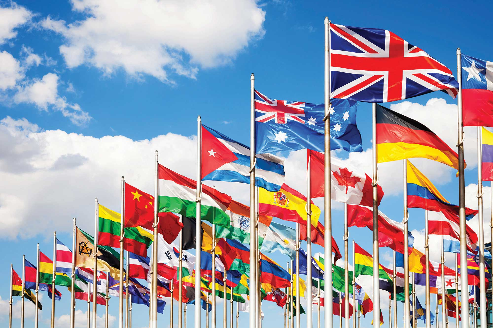 a group of different flags