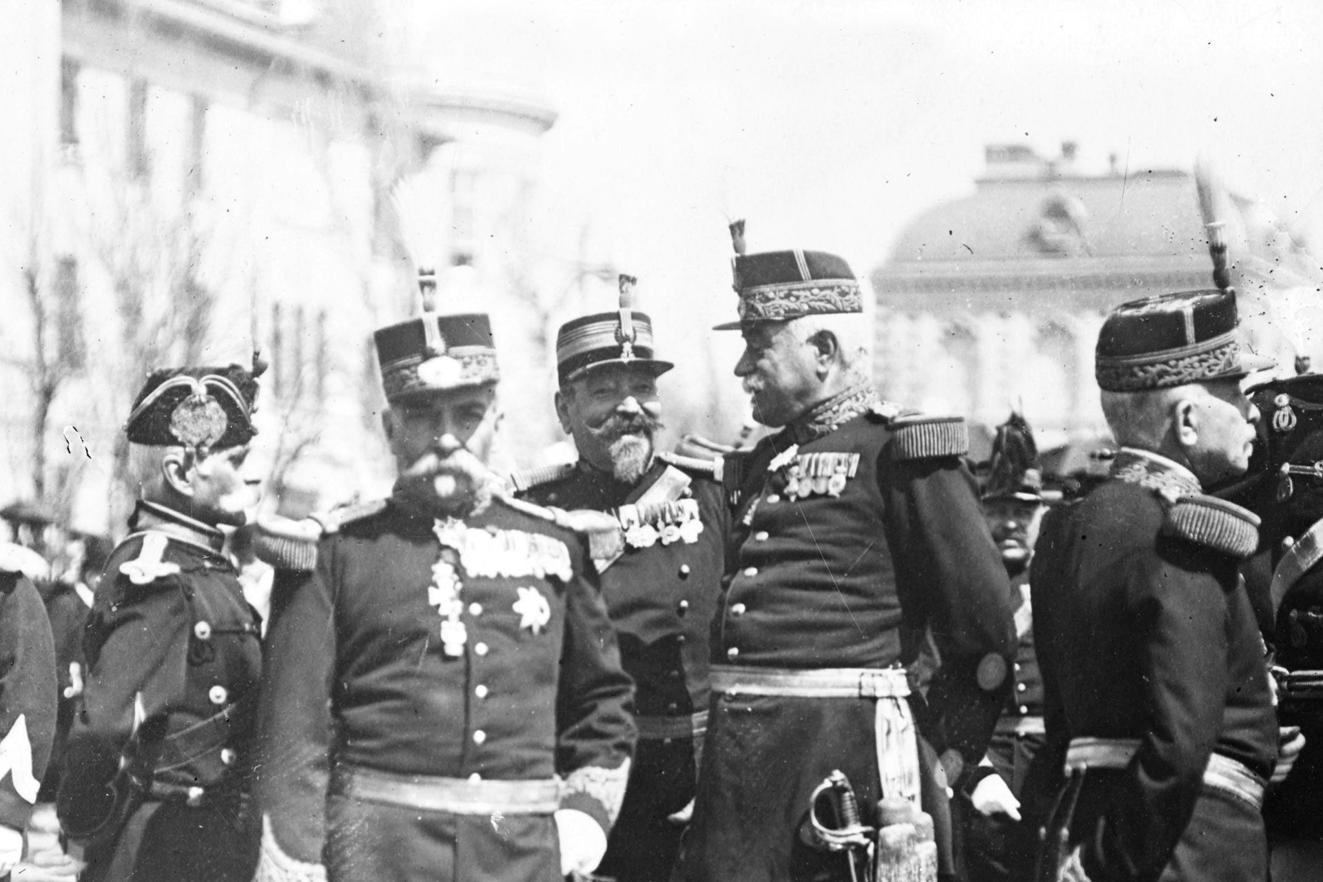 A group of Word War 1 officers