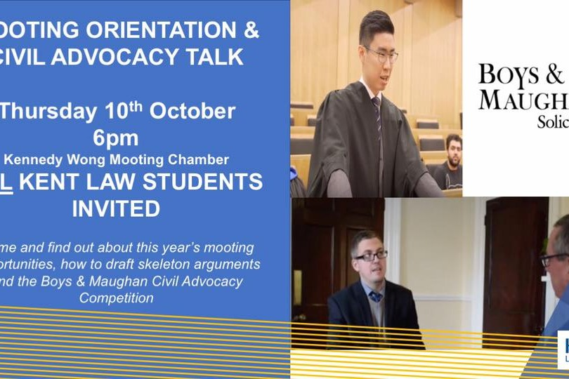 Mooting orientation + civil advocacy talk - University of Kent