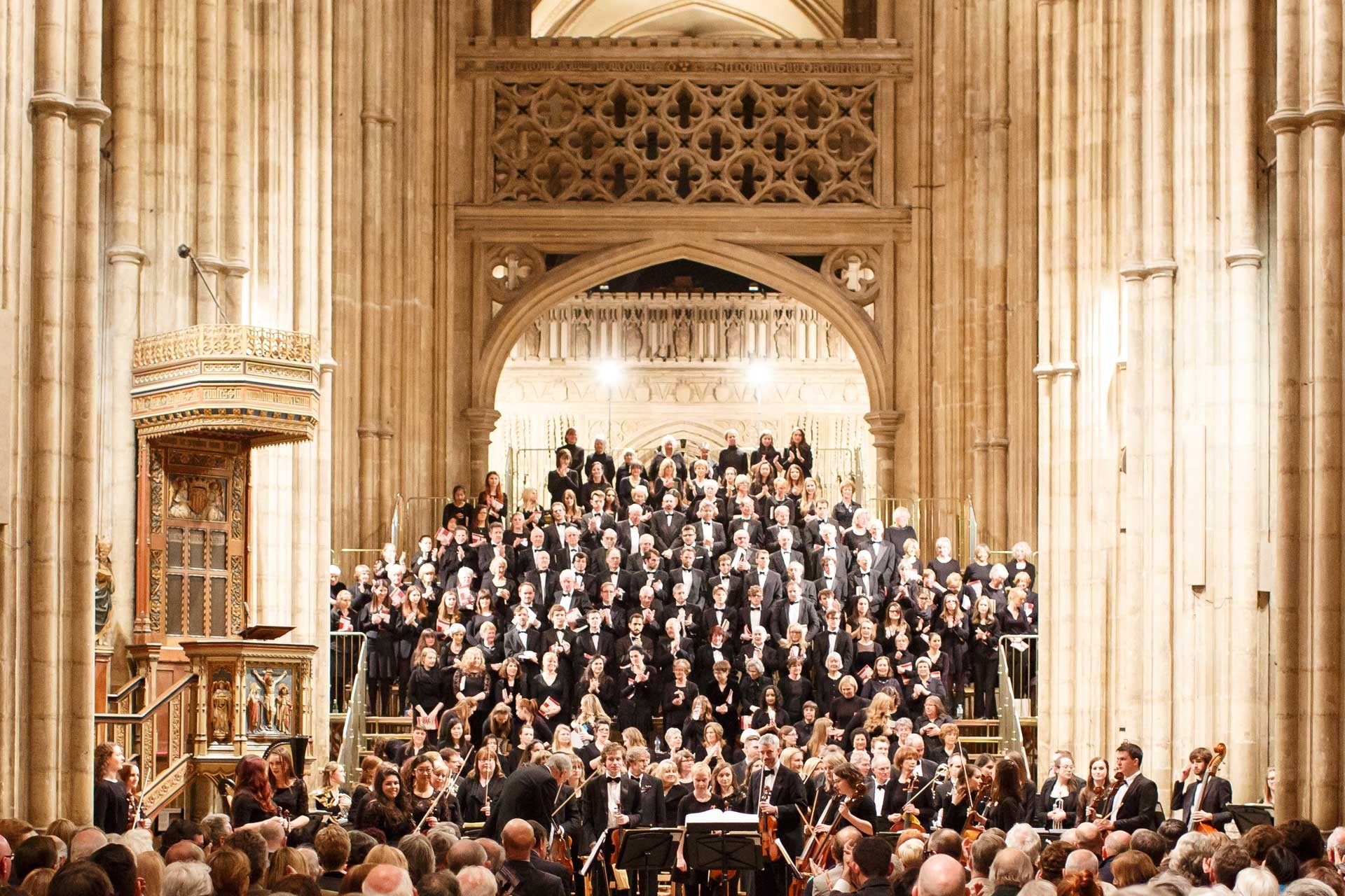 Concert in Canterbury Cathedral