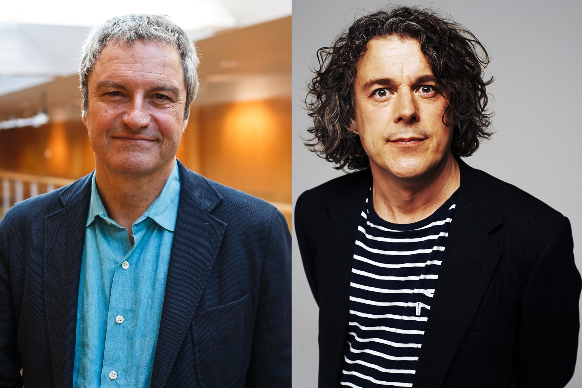 Gavin Esler and Alan Davies